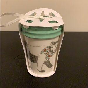 Starbucks 2017 Polar Bear mini mug ornament
